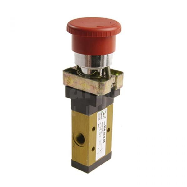 Series 228 Palm Push Button Ø22 Pneumatic Valve 3/2 & 5/2 - 1/8
