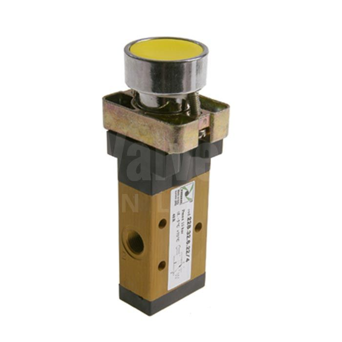 Series 228 Push Button Pneumatic Valve 3/2 & 5/2 - 1/8