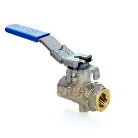 Vented Brass Ball Valve with Locking Lever