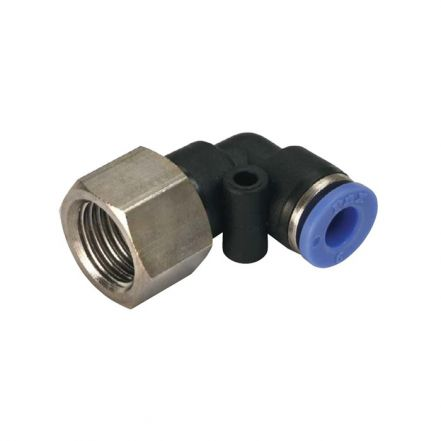Polymer Female Parallel Thread Swivel Elbow Fitting