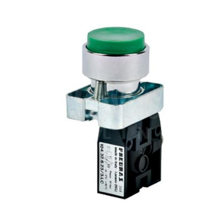 Series 104 Raised Push Button Pneumatic Valve 3/2 & 5/2 - 4mm