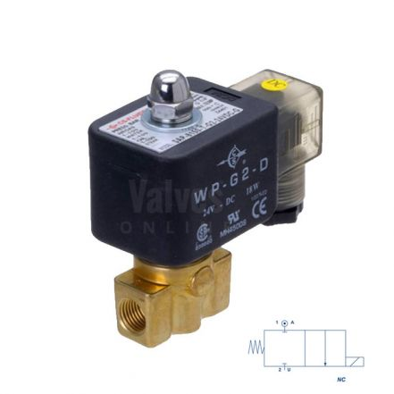 "Brass Solenoid Valve Direct Acting 1/8"" to 1/2"""