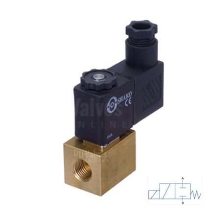 "Brass Solenoid Valve Mini Direct Acting 1/8"" to 1/4"""