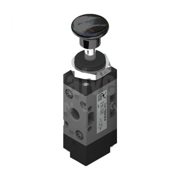 Series T224 Push Button Pneumatic Valve 3/2 & 5/2 - 1/4