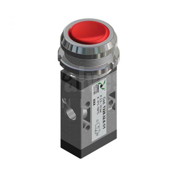 Series T228 Push Button Ø30 Pneumatic Valve 3/2 & 5/2 - 1/8